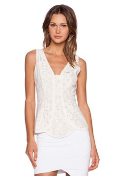 Lumier Virtue & Vice Top in White Lace | REVOLVE