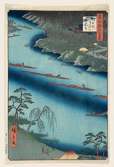 Kawaguchi  Andô Hiroshige  (Japanese, 1797–1858)  Date: 1857 Culture: Japan Medium: Polychrome woodblock print; ink and color on paper