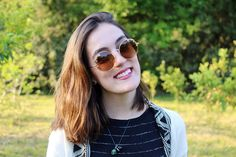 look do dia - street style - outfit of the day - ootd - fashion - blogger - spring - short hair - brunette - óculos de sol marrom - brown sunglasses - white skin - cabelo médio - long bob hair - natural make up - batom nude