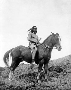 Mounted Nez Perce Warrior – 1910
