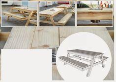 Ah! E se falando em madeira...: mesa de pic-nic do GNT