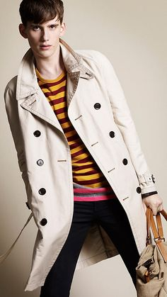 Burberry: Coated Cotton Trench Coat