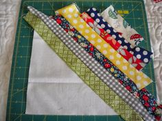 Tutorial for making string quilt blocks; this is a wonderful way to use scraps!