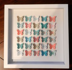 By the Seashore Butterfly Shadowbox by KristynsKreations517, $45.00