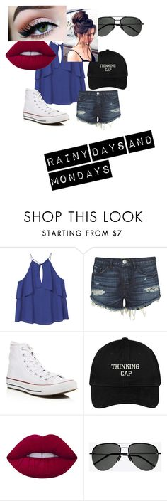 """""""Rainy Monday"""" by futurestar04 ❤ liked on Polyvore featuring MANGO, 3x1, Converse, Lime Crime and Yves Saint Laurent"""