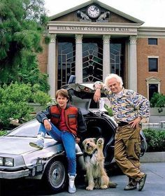 Michael J Fox & Christopher Lloyd -[Back to the Future Photo Iconic Movies, Old Movies, Classic Movies, Michael J Fox, Marty Mcfly, The Future Movie, Back To The Future, Bttf, Oldschool