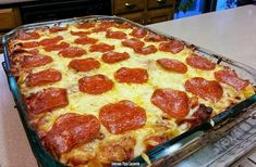 Delicious Pizza Casserole – Cook and Bless