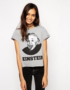 ASOS Boyfriend T-shirt with Einstein Print