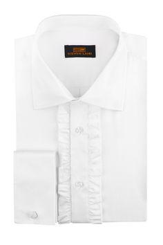 "6XL Men/'s Wing Collar 1//8/"" Pleats Tuxedo Shirt. NWT Size XS"