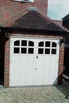 Bespoke Garage Doors Garage Doors External Doors Bespoke period wooden,Victorian Edwardian and Georgian style Front doors and Sash windows,Supplied and fitted across London and the home counties Style At Home, Garage Extension, Building Extension, Extension Plans, 1930s House Exterior, 1930s House Renovation, Garage Door Colors, Art Nouveau, Modern Garage Doors