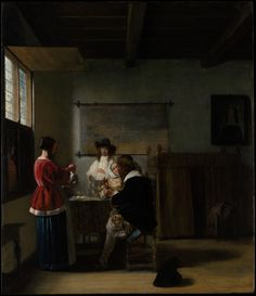 Pieter de Hooch, The Visit, ca. 1657. Oil on wood | The Metropolitan Museum of Art