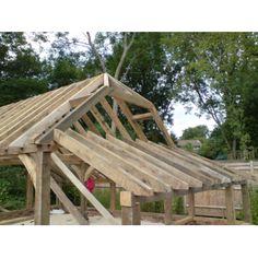 2 Bay Oak Garage and Log Store Hand-Made by Cedar Nursery