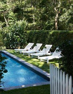 calming backyard pool landscaping ideas