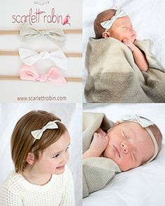 3 Fabric Bow Knots on Nylon Headbands Multipacks for Baby and Girls Scarlett Robin Brand fabric knot bows sweetie * Continue to the product at the image link.(This is an Amazon affiliate link and I receive a commission for the sales)