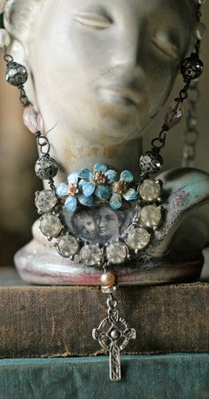 Ave Maria  necklace by crownedbygrace on Etsy, $76.00