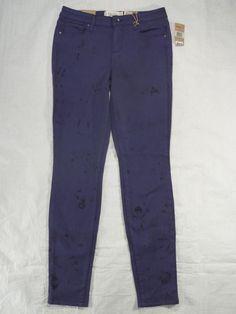 RACHEL ROY electrify blue ICON skinny stretch mid rise women's jeans SIZE 28