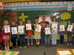 Thank you card for parent volunteers