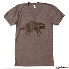 Hey, I found this really awesome Etsy listing at https://www.etsy.com/listing/108272965/unisex-urban-raccoon-tri-blend-v-neck-t