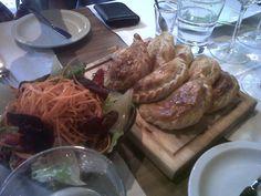 Empenadas for lunch @ Azafran in Mendoza