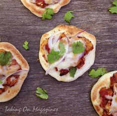 Chicken Tikka Pizzas from Cooking Light Magazine, April 2013