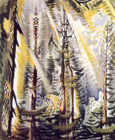 Cicada Song in September, Charles Burchfield 1956