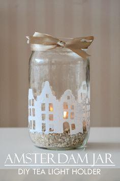 Tea light holder - Amsterdam Skyline