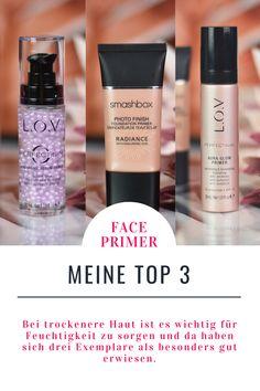 Trockene Haut ist anspruchsvoll und Make-Up liegt oft unschön darauf. Mit diesen Drei Face-Primern könnt ihr eure trockene Haut perfekt auf die Foundation und weitere Teint-Produkte vorbereiten und sie mit Feuchtigkeit versorgen. Außerdem verleihen sie der Haut einen wunderschönen Glow, der bei dehydrierter Haut leider auch oft ausbleibt.