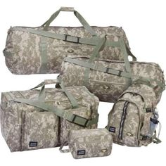 5pc-Luggage-Set-Digital-Pattern-Camouflage-Water-Resistant-Camping-Travel-Gear