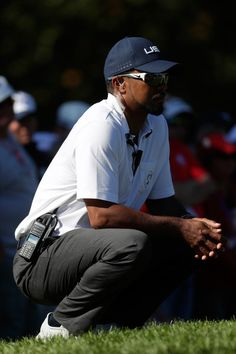 Vice-captain Tiger Woods of the United States looks on from the hole during singles matches of the 2016 Ryder Cup at Hazeltine National Golf Club on October 2016 in Chaska, Minnesota. Chaska Minnesota, Lindsey Vonn, Ryder Cup, October 2, Tiger Woods, Great Team, Photo On Wood, Golf Clubs, United States