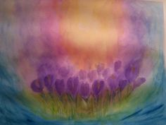 Crocus watercolour