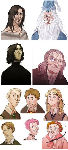 Harry-Potter-characters-Disney-style