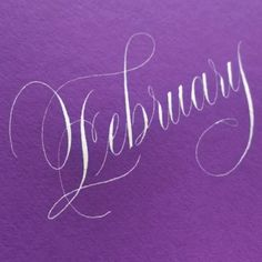 """2,191 Likes, 81 Comments - Suzanne Cunningham (@suzcunningham) on Instagram: """"Hello, February!!  . #calligraphy #february #birthdaymonth #bleedproofwhite #nikkog #copperplate…"""""""