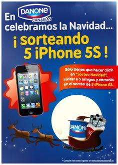 ¡Celebra la Navidad con Danone Canarias! ¡Sorteamos 5 iPhone 5S!