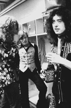 Robert Plant, John Paul Jones and Jimmy Page, 1975
