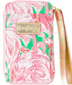 Lilly Pulitzer iPhone Carded ID Wristlet in Pink Colony