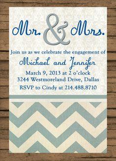 Printable! Engagement Party Invite #love #engagementshower
