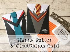 Harry Potter Card tutorial plus an easy follow on Graduation or new school card #harrypotter #harrypotterbirthdaycard