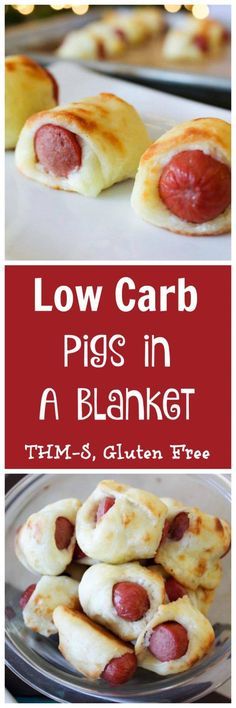 Low Carb Pigs in a Blanket (THM-S) using MyMontanaKitchen's version of stromboli (fathead) dough...