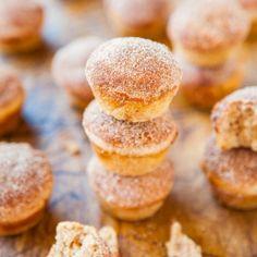 Cinnamon Sugar Mini Donut Muffins recipe