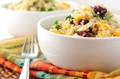 20 Scrumptious Millet Recipes (A Gluten-Free Grain): Cranberry Mango Millet Salad with Quinoa, Fresh Spinach, Almonds, Dried Berries, Yellow Onions Gluten Free Grains, Gluten Free Recipes, Dairy Free, Real Food Recipes, Cooking Recipes, Healthy Recipes, Yummy Food, Millet Recipes, Mango Salad