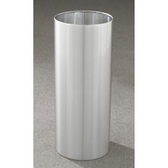 11 Gallon 12 X 23 Open Top Office Wastebasket Satin Aluminum Outdoor Indoor Trash Cans Recycle Bins Ashtrays For Commercial Or Home