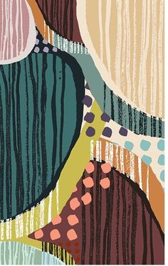 Rebecca McGill/Textile New Designers Winner- Graduated in textile design from Duncan of Jordanstone College of Art and Design. Specialising Particularly in printed textiles. Rebecca was one of the d… Textile Patterns, Textile Prints, Color Patterns, Print Patterns, Floral Patterns, Pattern Dots, Doodle Pattern, Art And Illustration, Pattern Illustration