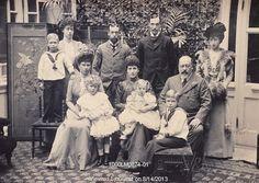 King Edward VII, Queen Alexandra and Family, photo Wilkinson & Co. Sandringham House, Norfolk, England, 1901