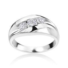 SummerRose Men's 14k Gold 3/4ct TDW Diamond Ring