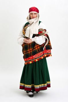 More modern version of the Rucava costume