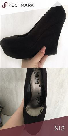 Black Wedges Incredibly comfortable wedges.. Perfect for special occasions. ✨worn once✨ Brash Shoes Wedges