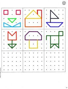 3 activités – My home homeschool Instructional Technology, Instructional Strategies, Creative Activities For Kids, Math For Kids, Kindergarten Math, Preschool Activities, Math Games, Learning Activities, Geo Board