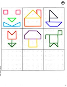 Geoboard shapes template