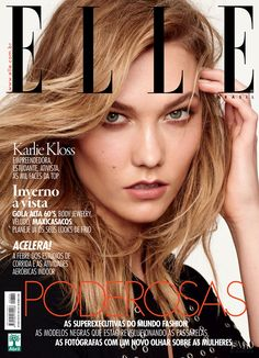 Karlie Kloss featured on the Elle Brazil cover from March 2016