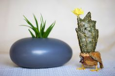 Cactus bird  textile  art  sculpture   standing by wassupbrothers